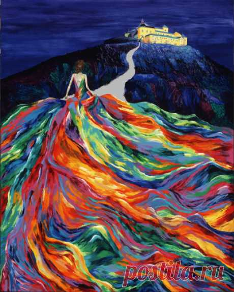 "Contemporary Painting - ""Christina's Dream"" (Original Art from LINZI LYNN )"