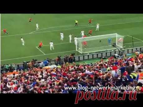 Испания   Россия  1 0 Гол   Мяч залетает в сетку от ноги Игнашевича  видео