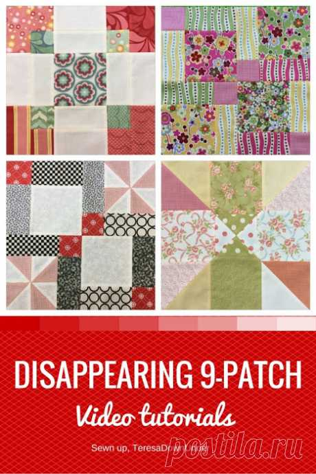 Video tutorials: disappearing 9 patch blocks This is a collection of 4 disappearing 9-patch blocks. All of them start as 9 patch blocks and by slicing the block in different ways we can obtain quite different looking blocks. All of themare c…