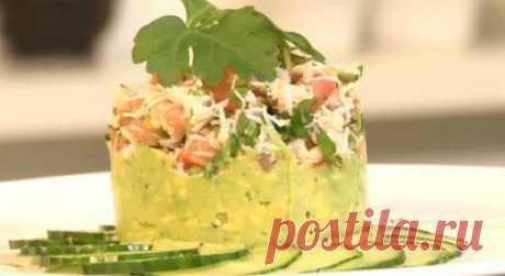 Fast, easy and nourishing … Crab avocado salad — Tasty recipes