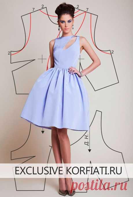 Выкройка платья на выпускной бал от А. Корфиати Выпускной бал - событие в жизни каждой школьницы. Подготовьтесь к нему заранее Это платье - просто находка! Выкройка платья на выпускной бал очень простая
