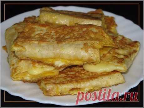 Лаваш с сыром в яйце. Завтрак за 5 минут. Ингредиенты:Тонкий армянский лаваш...