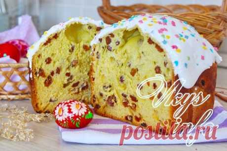 Простой и вкусный кулич в хлебопечке