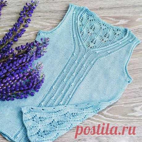 Ледяной топ спицами, Вязание для женщин