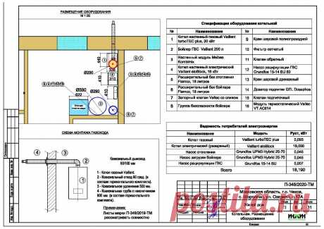 Проект отопления частного дома, пример 1431