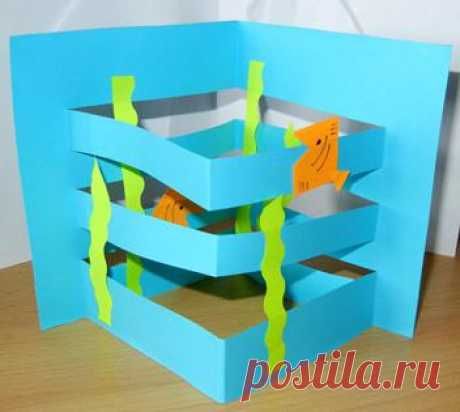 Paper aquarium. A hand-made article for children. - The website of the Ulyanovsk mothers is Playroom.ru