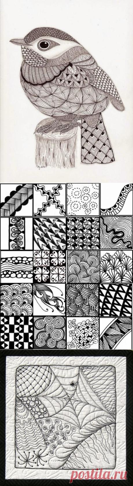 Что такое зентангл, и как его применять в рукоделии? Советы и идеи для вдохновения