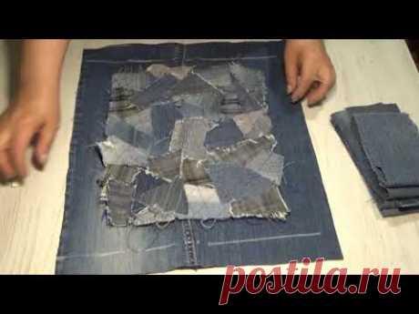 СУМКА С ПИЦЦЕЙ. Как я вшиваю молнию, подкладку, прошиваю углы у сумки.