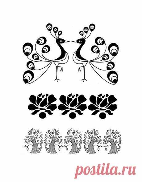 Узоры и орнаменты трафареты для детей. Распечатайте шаблоны бесплатно.