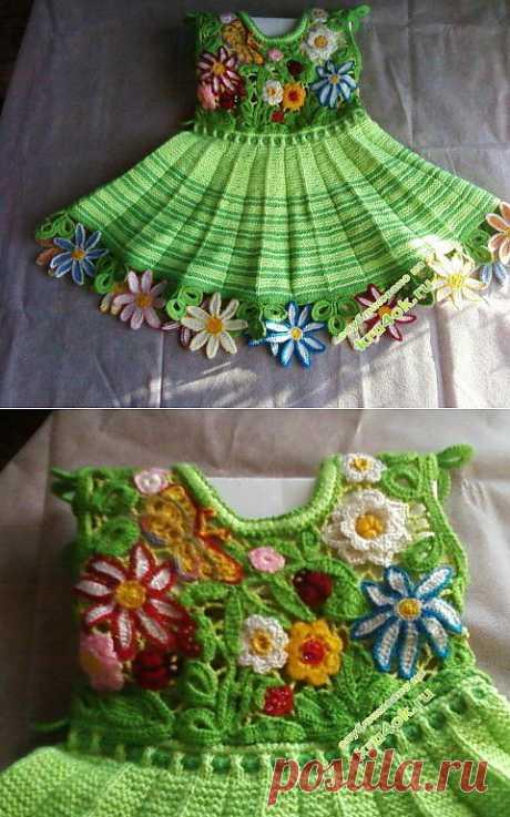 Вязаное платье для девочки 2-х лет - вязание крючком на kru4ok.ru
