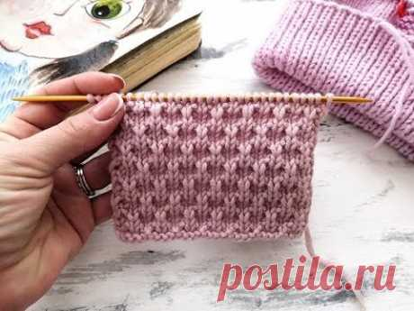 Рельефный плотный узор спицами для вязания шапок, свитеров, кардиганов, джемперов