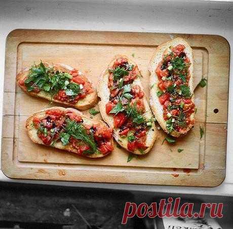 Брускетта с помидорами рецепт – завтраки, закуски