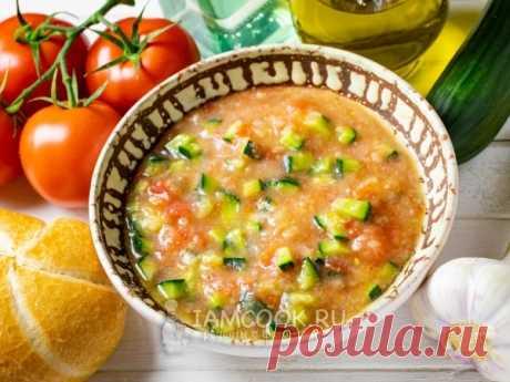 Гаспачо с картошкой — рецепт с фото Гаспачо с картошкой - чуток более нажористый вариант традиционного холодного супа из помидоров и огурцов.