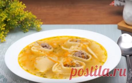 Быстрый суп с фрикадельками и макаронами Не знаете, что приготовить к обеду? Воспользуйтесь нашим рецептом и приготовьте супчик. Он получается очень вкусным и ароматным. Его с удовольствием будут есть как взрослые, так и дети....