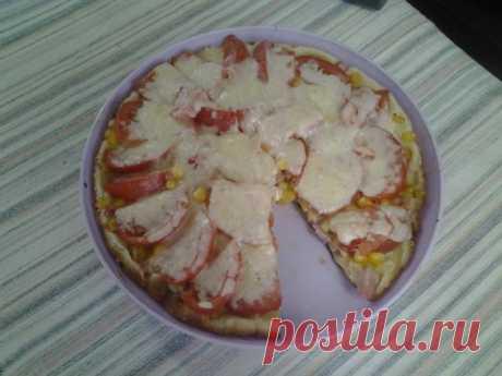 То ли пицца, то ли пирог! Ни соли, ни соды, ни дрожжей, а тесто мягенькое и нежненькое.. | Четыре вкуса