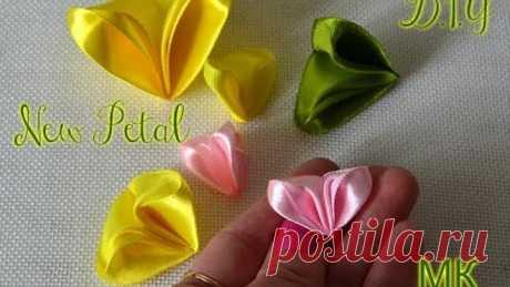 "New Petal Kanzashi \/ New petal "" Крылышки""\/D.I.Y"