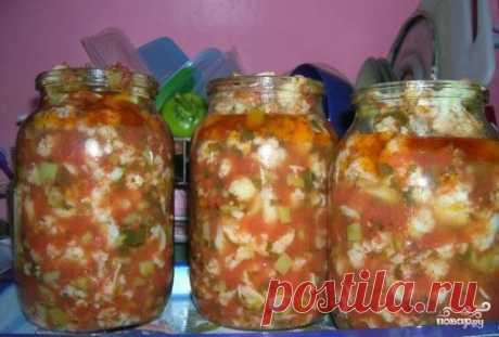 Цветная капуста на зиму в томате - самый вкусный рецепт цветной капусты на зиму!