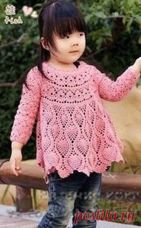 Платье-туника для маленькой модницы