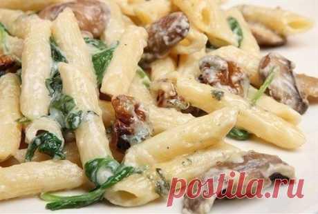Как приготовить макароны с грибами и курицей - рецепт, ингридиенты и фотографии