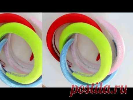 DIY/МК/ Как сделать объемный обруч своими руками. Volumetric hoop