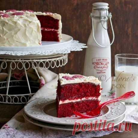 "Торт ""Красный бархат"" (без красителей)."