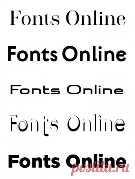 Кириллические шрифты | Шрифты онлайн
