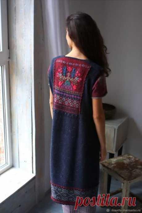 1d1e89151a3 Макошь  теплый вязаный сарафан – купить в интернет-магазине на Ярмар ...