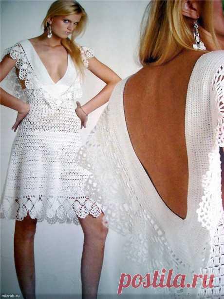 Супер! Открытое платье крючком