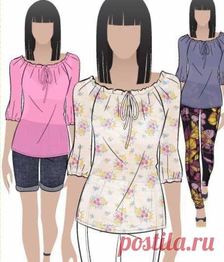 Основа для блузы-«крестьянки» за 30 минут (Шитьё и крой) | Журнал Вдохновение Рукодельницы