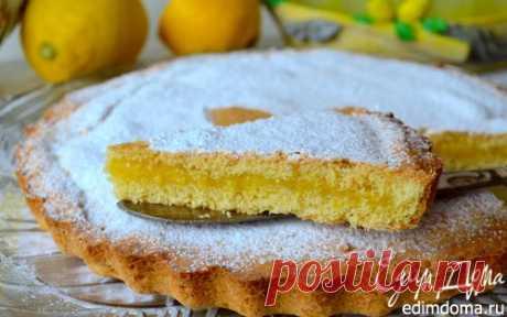 ¡El pastel de arena con la crema de limón | las Recetas de cocina de «Comemos las casas!»