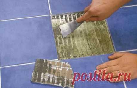 Как заменить одну плитку без разрушения всего остального покрытия — Лайфхаки