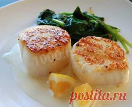 Морской гребешок с лимоном рецепт с фото - 1000.menu