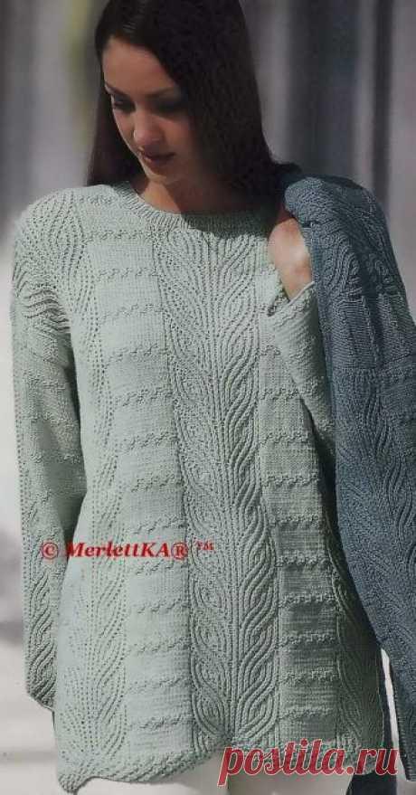 Пуловеры оверсайз или Лэмпшейдинг ✿ вязание спицами