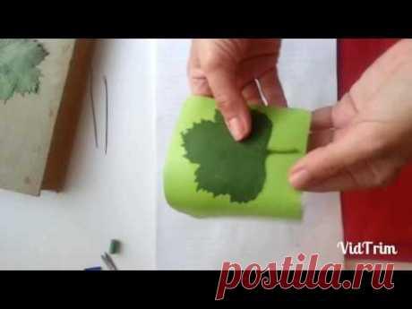 Как сделать листья без молда фоамиран