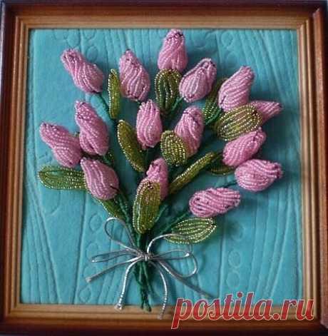 Тюльпаны из бисера — Сделай сам, идеи для творчества - DIY Ideas