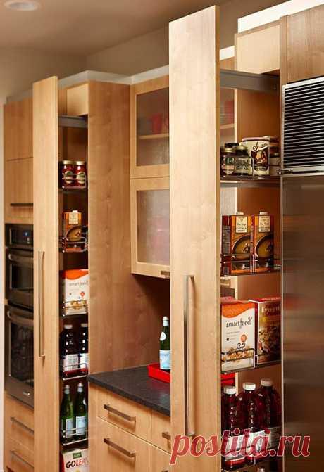 Хранение на кухне, дизайн кухни,