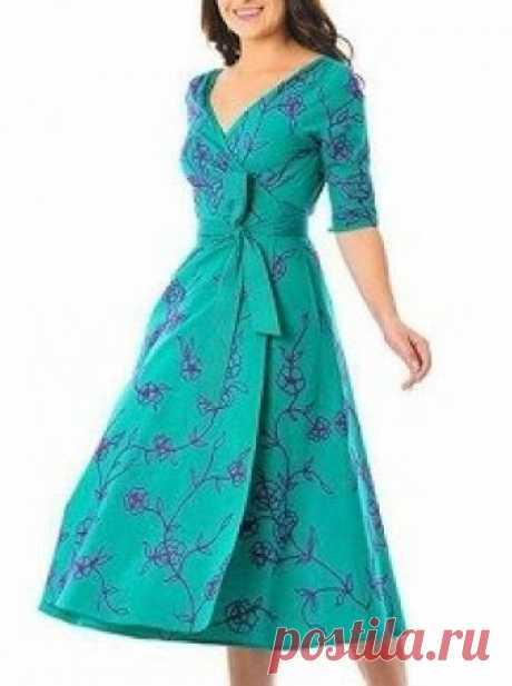 Платье проникали evasê с рукавом 2/4 - DIY - прессформа, вырезывание и шить - Марлен Mukai Схема для того чтобы сделать прессформы платье evasê проникали с длиной миди и рукавом 2/4, размер 36, к 56.