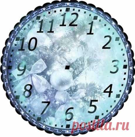 новогодний циферблат часов шаблон распечатать - 14 тыс. картинок - Поиск Mail.Ru