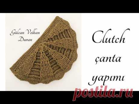 Kağıt İp İle Tığ İşi Örgü Clutch - Portföy Çanta Yapımı - Part 1