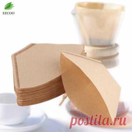100 шт./пакет оригинальный деревянный ручной капельного бумажный фильтр для кофе эспрессо кофе фильтр пакетов чай мешок фильтр заварки зеленого чая купить на AliExpress