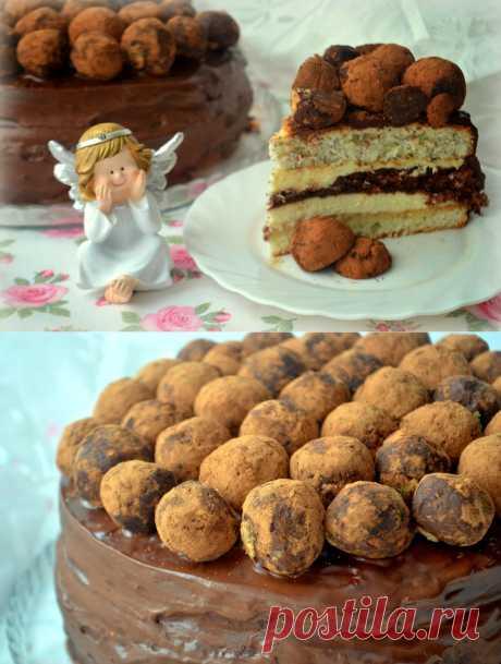 MY FOOD или проверено Лизой: Праздничный шоколадный торт с шариками.