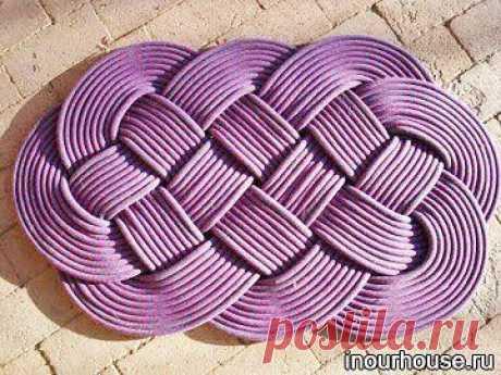 Плетеный коврик - Мастер-классы для всех !