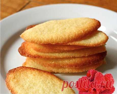 Простое и вкусное французское печенье - Langues-de-chat | ChocoYamma | Яндекс Дзен