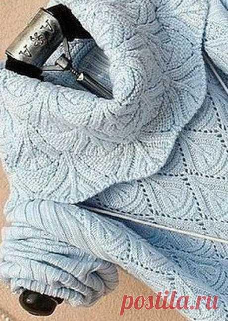 Геометрический узор для вязания свитера. Схема вязания узора для свитера спицами #вязание #рукоделие #спицы