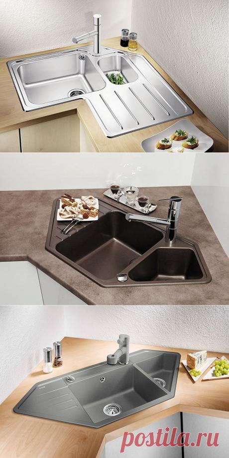 Стильно, функционально и необычно: угловая мойка для кухни - Интересный блог