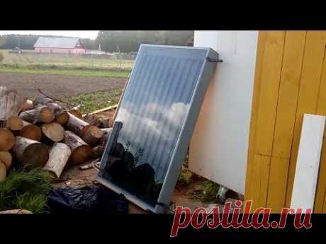 Изготовление водяного солнечного коллектора Часть 3,1 (Абсорбер, Испытание,установка в корпус ) - YouTube
