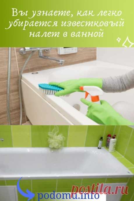 Появление известкового налёта в ванной – это та проблема, с которой рано или поздно сталкивается каждая хозяйка. Случается это из-за высокого содержания минеральных солей в составе воды, которой мы ежедневно пользуемся
