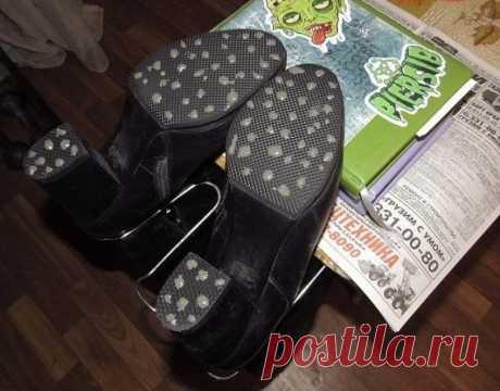 Как сделать обувь-антилёд своими руками