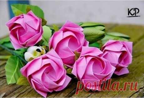 Бумажные розы оригами 🌹 / IPv2