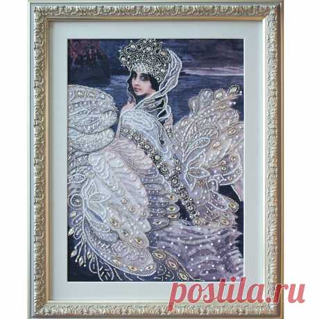 """❤ Ткань со схемой для вышивки бисером """"Царевна-Лебедь"""". Цена 105 грн. Доставка по всей Украине."""